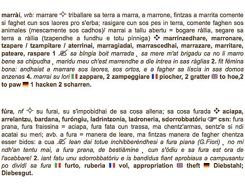 """Definizione """"Marrai + Fura"""" (ditzionariu.org)"""
