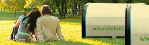myhab tende di lusso riciclate, riusabili e riciclabili