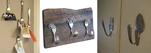 Coltelli forchette e cucchiai riuso creativo delle - Creare porta orecchini ...