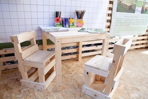 Design sostenibile eco arredo con il riuso del pallet - Mobili con bancali in legno ...