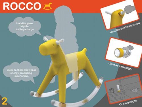 Rocco, il cavallo a dondolo ecologico