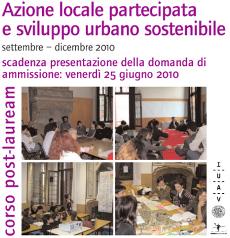 Azione locale partecipata e sviluppo urbano sostenibile 2010