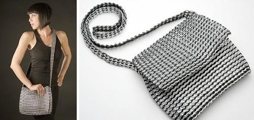 Borse e accessori - riuso linguette lattine