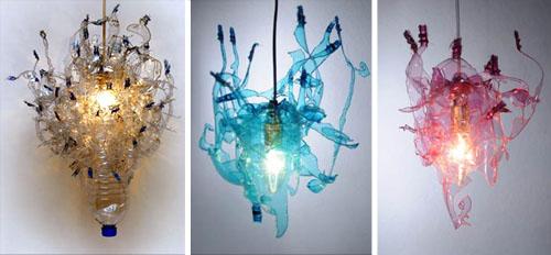 abat jour sospese : Luci di PET, le lampade fatte con bottiglie di plastica. Marrai a ...