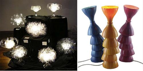 lampadari di plastica : Luci di PET, le lampade fatte con bottiglie di plastica. Marrai a ...