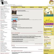 L'attuale sito web del Comune di Anzola