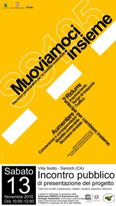 Progettazione partecipata - Muoviamoci Insieme Sarroch - Manifesto