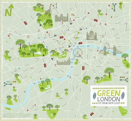 Cartina Monumenti Londra Pdf.Green London La Mappa Della Londra Eco Sostenibile Da Scaricare Gratis Marraiafura