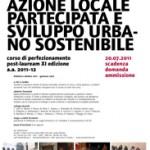 <b>Azione Locale Partecipata e Sviluppo Urbano Sostenibile</b>. Disponibili ancora alcuni posti per il corso dello IUAV