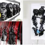 <b>L'arte degli oggetti abbandonati.</b> Dischi in vinile, musicassette, plexiglass