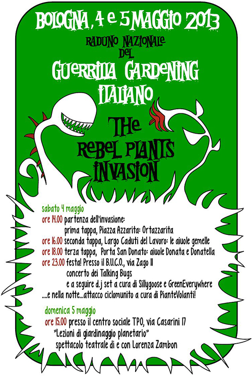 Raduno nazionale del Guerrilla Gardening Italiano