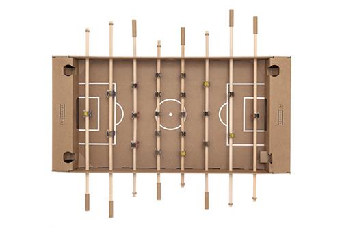 kartoni calcio-balilla di cartone