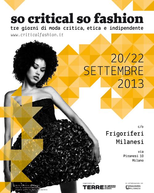 Poster So Critical So Fashion 2013