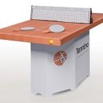 <b>Tennino.</b> Il tavolo da ping-pong in cartone, da montare e smontare
