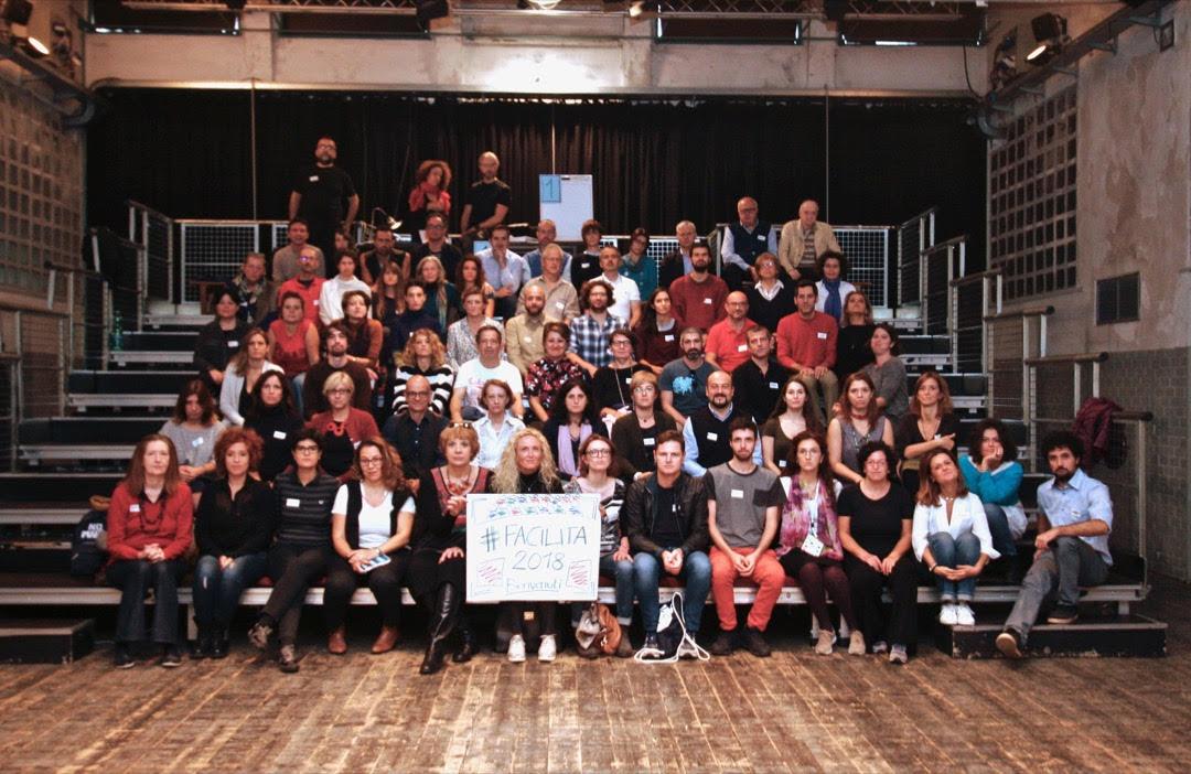 Foto di gruppo dell'edizione 2018 di #Facilita